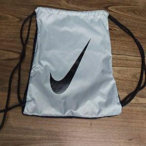 Nike Drawstring Black/Gray Backpack, Shoe Bag